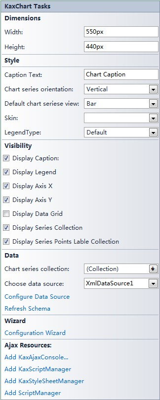 bind xml data source data to chart step1 in asp.net ajax