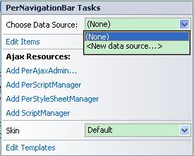 NavigationBar Data Binding with DataBase|UI Control for ASP NET AJAX